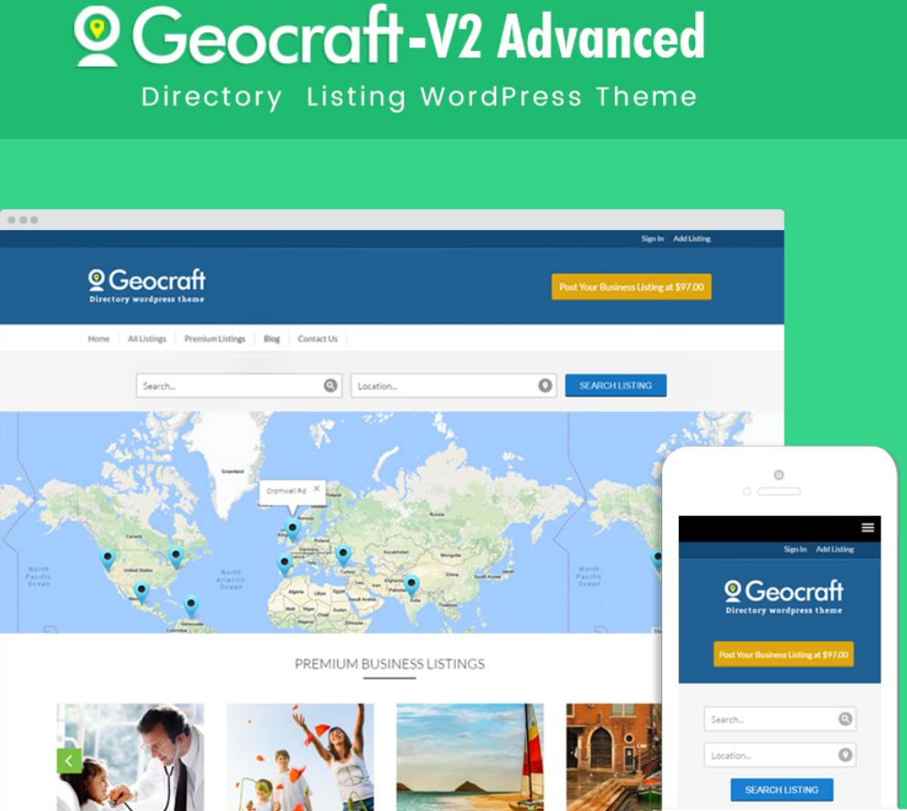 Geocraft Directory Wordpress Theme