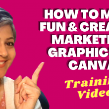 CANVA Training Video for Marketers